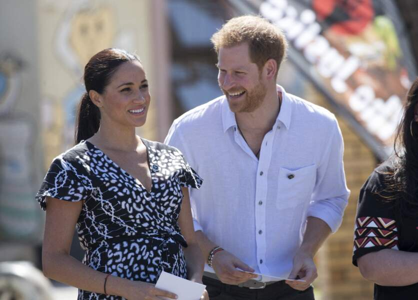 Photographiés à Nyanga, en Afrique du Sud, le 23 septembre 2019, Meghan Markle et le prince Harry ont créé leur propre empire en outre-Atlantique