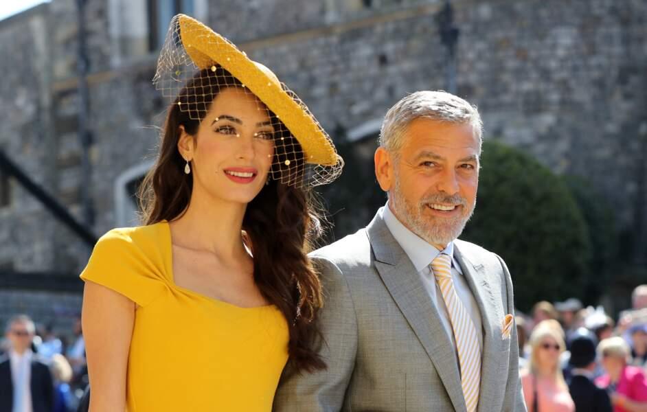Amal Clooney et George Clooney, ici au mariage des Sussex le 19 mai 2018, n'échappent pas au titre de power couple