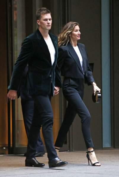 Gisele Bündchen et Tom Brady, ici à New York le 1er mai 2017, poursuivent leurs carrières respectives
