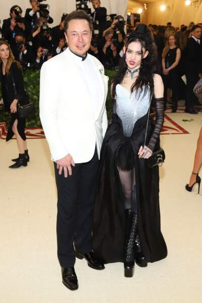 Elon Musk et Grimes ont dévoilé leur amour au grand jour lors du Met Gala de New York le 7 mai 2018