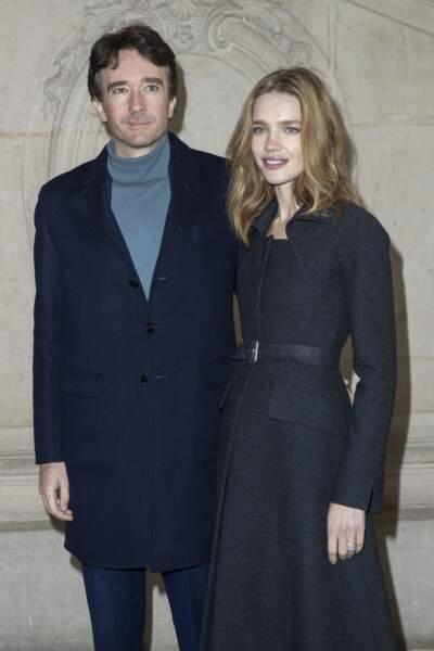 Antoine Arnault et Natalia Vodianova (ici lors du défilé Dior à Paris le 20 janvier 2020) sont les parents de deux enfants