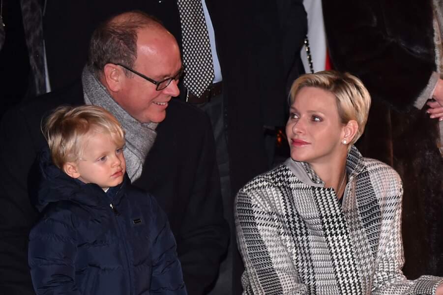 Charlène de Monaco et le prince Albert à Monaco le 26 janvier 2018