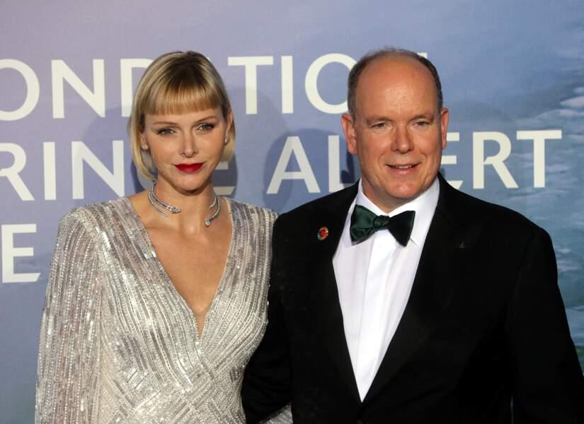Charlène de Monaco et le prince Albert II au gala Monte-Carlo for Planetary Health  le 24 septembre 2020.
