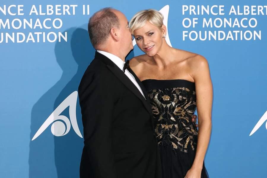 Charlène de Monaco et le prince Albert au Gala pour l'Océan de Monte-Carlo le 28 septembre 2017