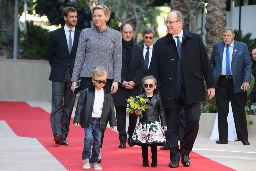 Charlène de Monaco et le prince Albert à l'inauguration du One Monte-Carlo, le 2 février 2019
