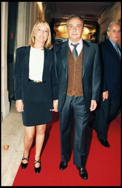 Michel Sardou et Babette à la soirée pour les 40 ans d'Europe 1 en 1996