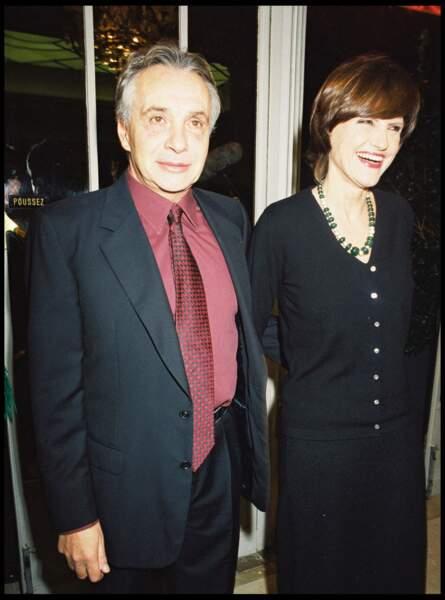 Michel Sardou et Anne-Marie Périer au théâtre Marigny à Paris en 2000