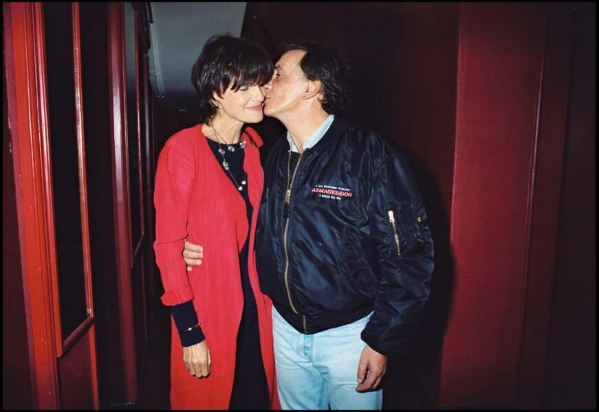 Michel Sardou et Anne-Marie Perier à la sortie Gymnase en 1999