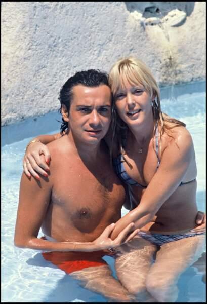 Michel Sardou et sa femme Babette à Saint-Tropez en 1978