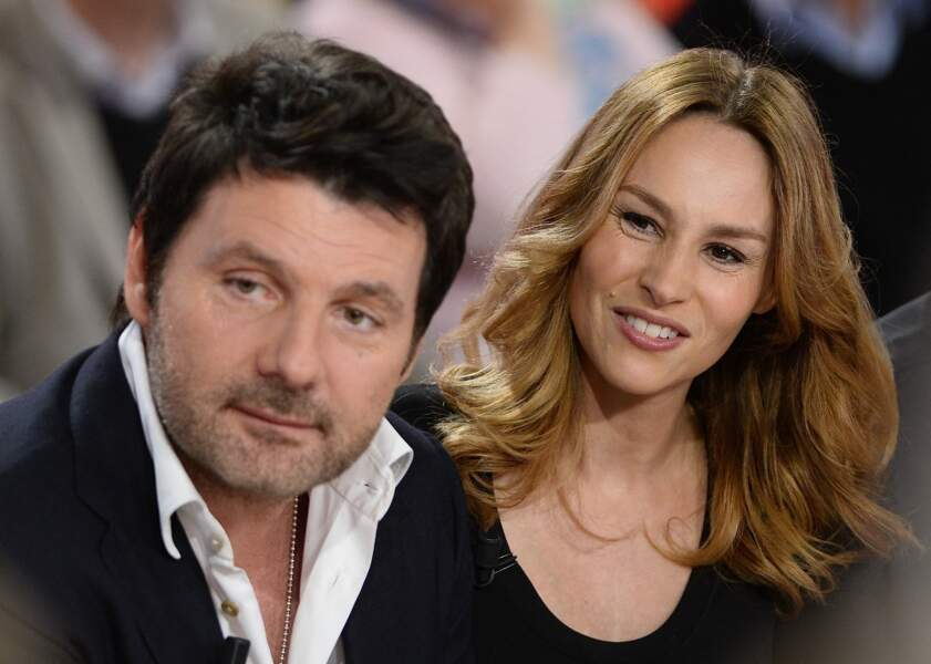 Philippe Lellouche et Vanessa Demouy sur le plateau de Vivement dimanche le 1er avril 2015