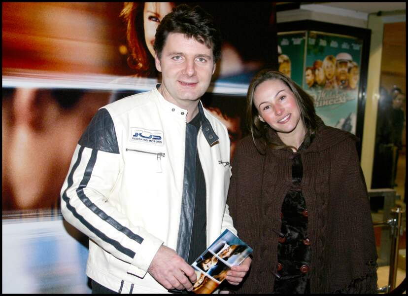 Vanessa Demouy et Philippe Lellouche à l'avant-première du film Une vie à t'attendre au cinéma Gaumont Marignan en 2004