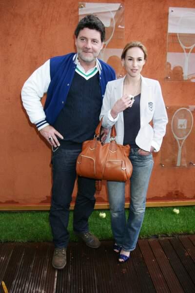 Philippe Lellouche et Vanessa Demouy à Roland-Garros le 27 mai 2010