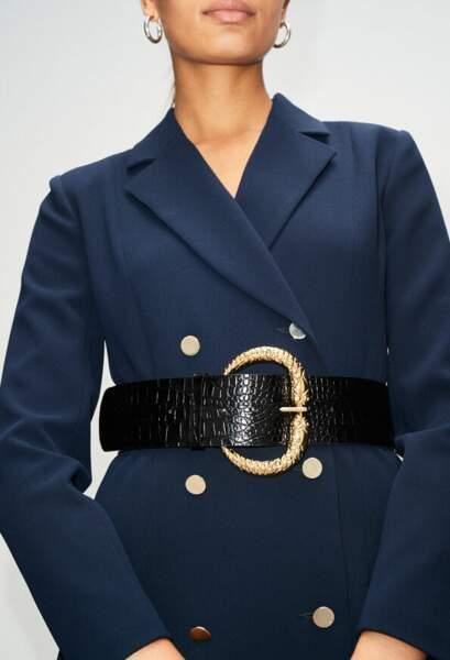 Ceinture corset noire en cuir - Claudie Pierlot, 145€