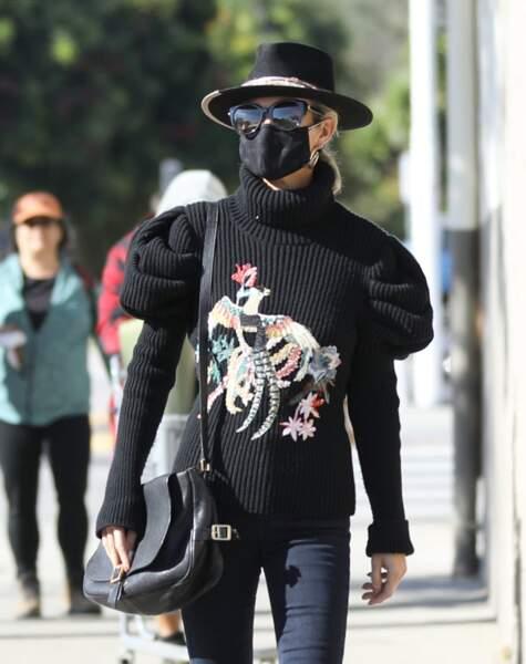 Laeticia Hallyday dans les rues de Los Angeles, le 24 janvier 2021