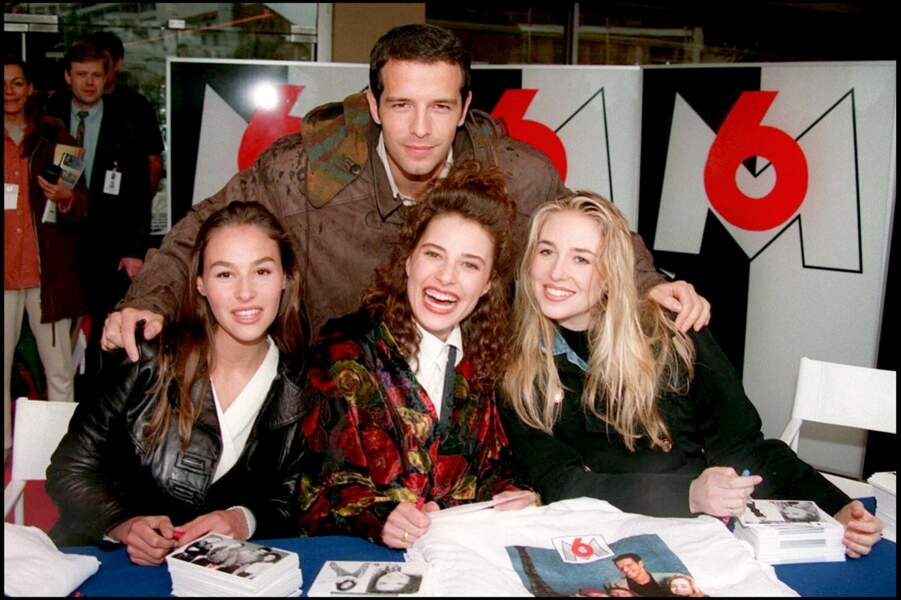 Vanessa Demouy et ses acolytes de Classe Mannequin à Cannes en 1994