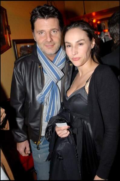 Vanessa Demouy et Philippe Lellouche en 2007 au 15ème anniversaire de la marque Antik Batik à Paris