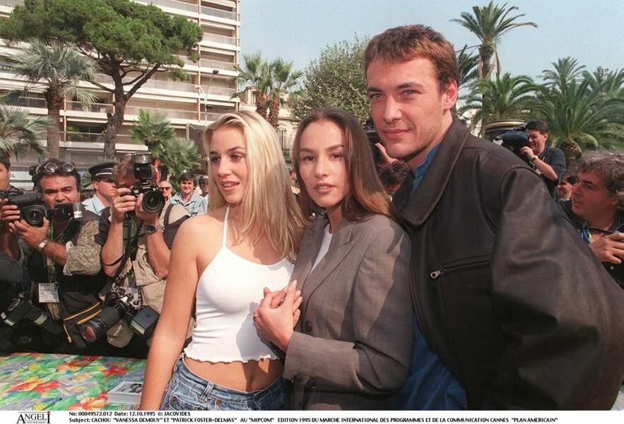 Vanessa Demouy lors du Marché international des programmes de télévision à Cannes en 1995