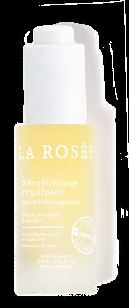 Sérum Visage Repulpant aux 4 huiles végétales, La Rosée, 18,90€