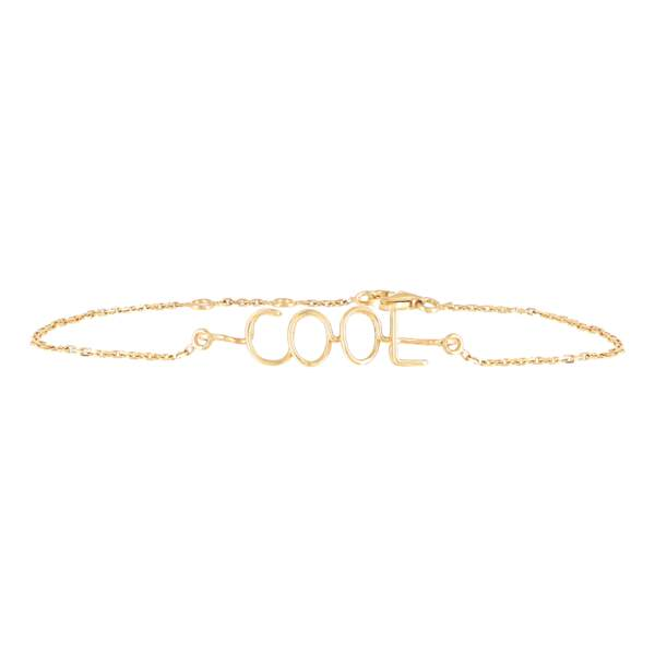 Bracelet Richelieu « Cool » en or jaune 18 carat, 1140€, Atelier Paulin Galeries Lafayette label Go for Good