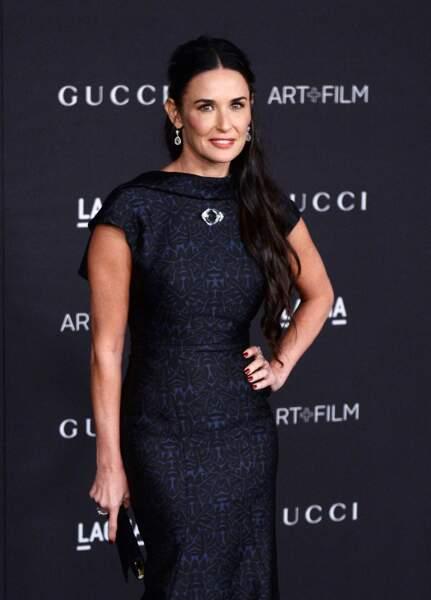 """Quatre ans plus tard, en 2014, Demi Moore apparaît à une soirée """"LACMA Art + Film Gala"""", à Los Angeles."""