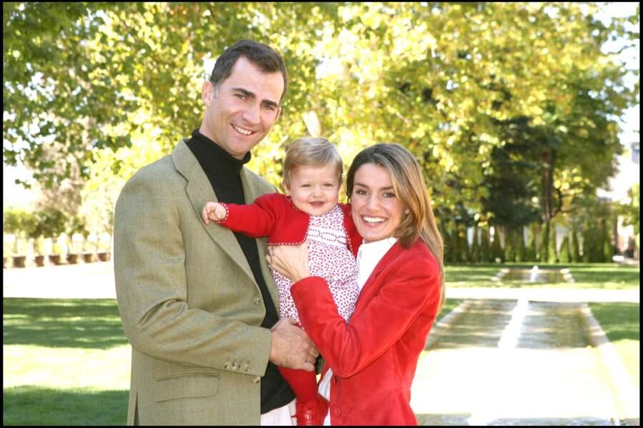 Felipe et Letizia d'Espagne fêtent leur premier anniversaire de leur filles Leonor au palais de la Zarzuela à Madrid