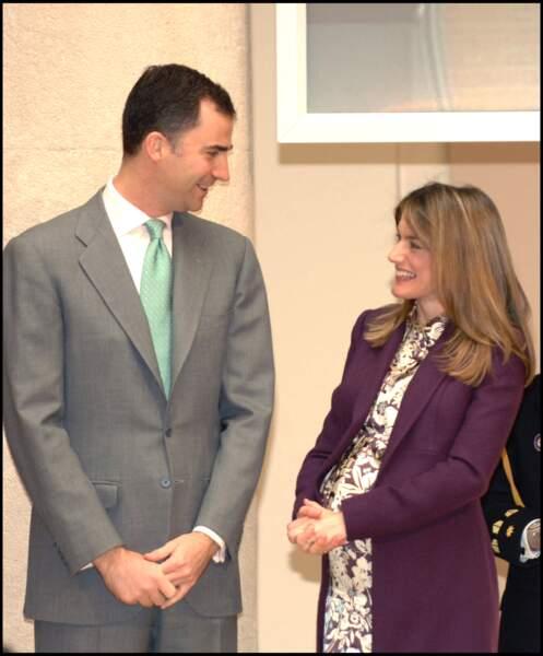Le prince Felipe et la princesse Letizia, enceinte, à la cérémonie Biodiversity conservation