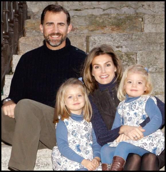 Felipe, Letizia, Leonor et Sofia à Noël