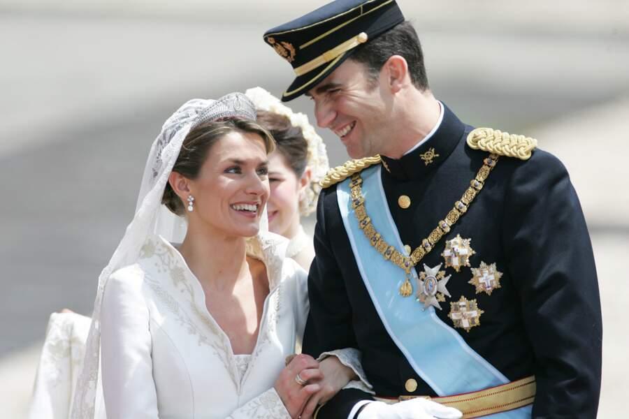 Mariage du prince Felipe d'Espagne et Letizia Ortiz à Madrid le 22 mai 2004