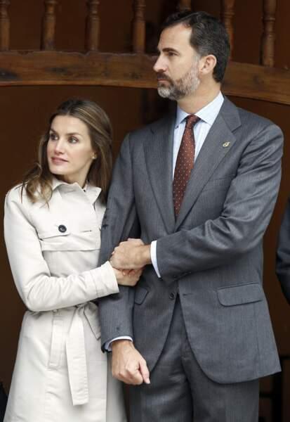 """Le prince Felipe et la princesse Letizia ont visité le village de Bueno qui a remporté le titre de """"village exemplaire des Asturies 2012"""""""