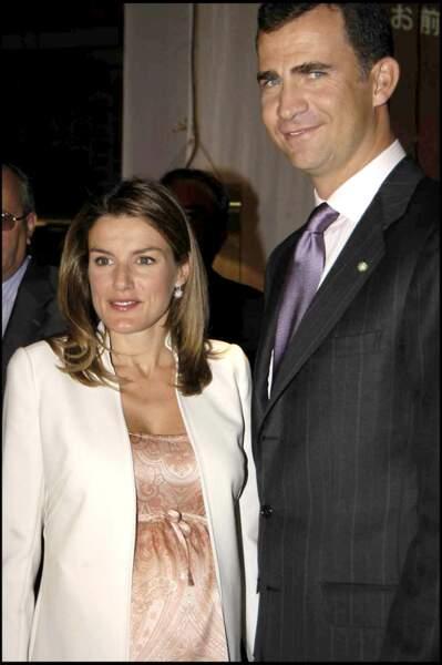 Le prince Felipe et la princesse Letizia, enceinte, assistent à l'exposition des chaussures espagnoles