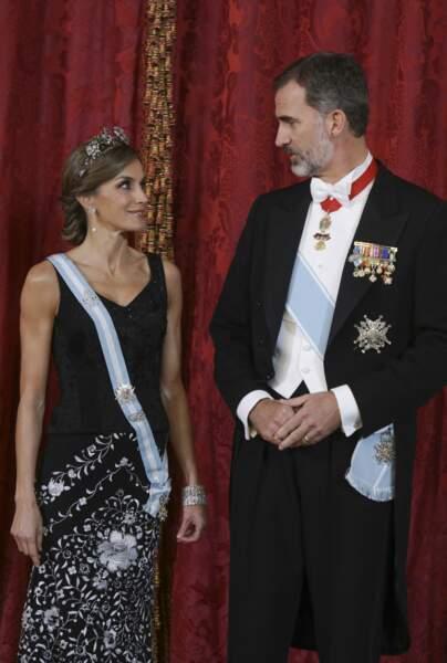 Le roi et la reine d'Espagne donnent un dîner en l'honneur du président d'Israël et de sa femme  au Palais de La Zarzuela à Madrid, Espagne, le 6 novembre 2017