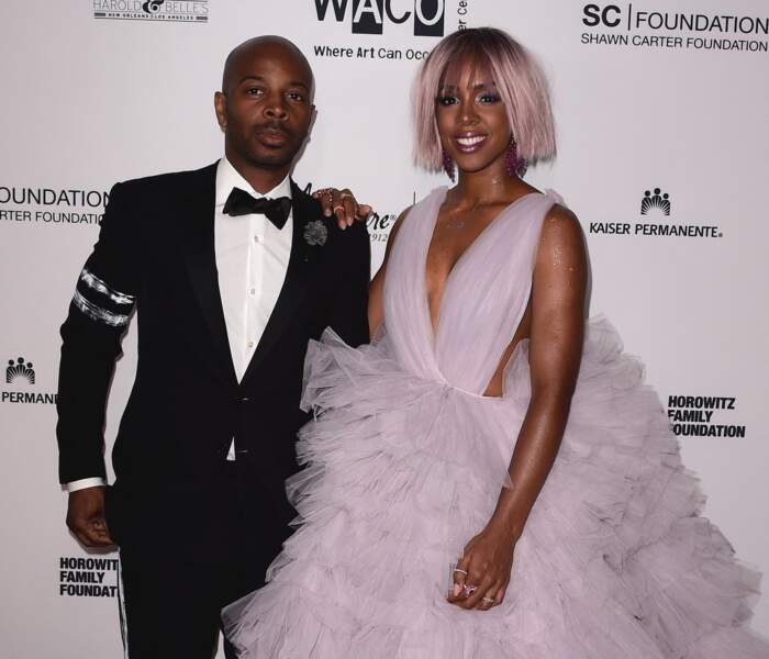 Kelly Rowland et son mari Tim Weatherspoon le 29 avril 2017 au Wearable Art Gala à Los Angeles