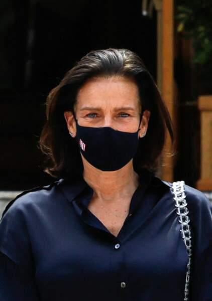 La Princesse Stéphanie de Monaco , masquée, au temps du Covid... le 2 juin 2020.