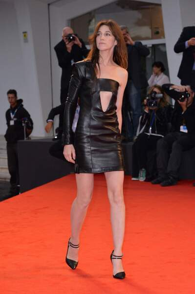 Charlotte Gainsbourg à la projection de Nymphomaniac au 71e festival international du film de Venise en septembre 2014