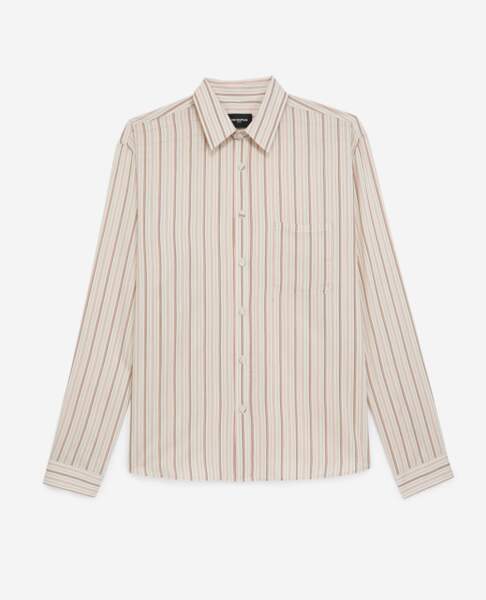 Chemise rayée 165 €, Tina For Vincent pour The Kooples