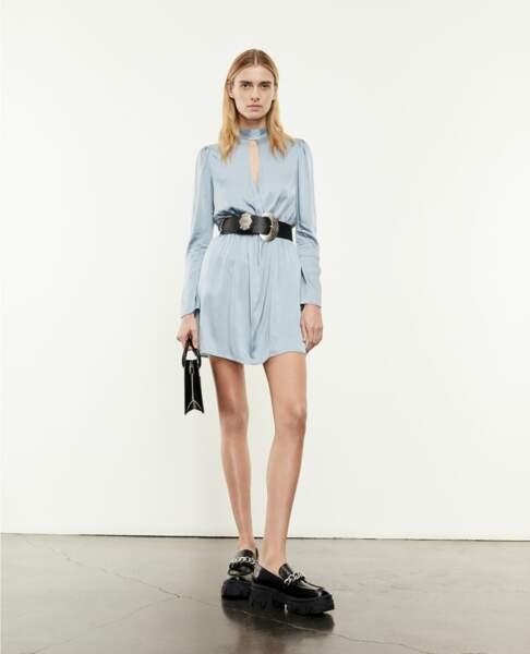 Robe fluide bleu ciel - The Kooples, 250€