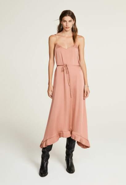 Robe rose à fines bretelles - Claudie Pierlot, 123€