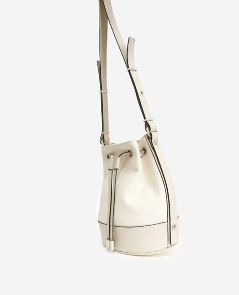 Tina Bag en cuir blanc, à partir de 235 €, Tina For Vincent pour The Kooples
