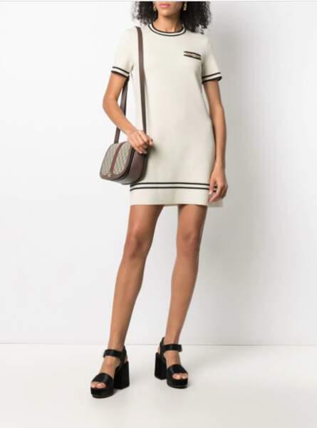 Robe en maille à manches courtes - Gucci, 980€