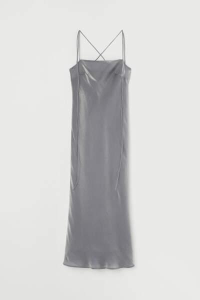 Robe nuisette argentée - H&M, 50€