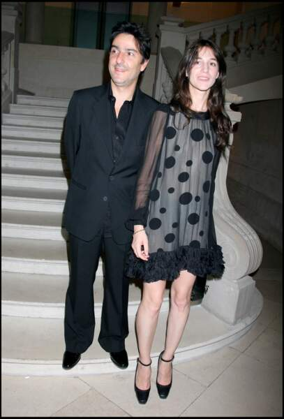 Charlotte Gainsbourg et Yvan Attal à l'exposition Balenciaga Paris au musée de la mode et du textile