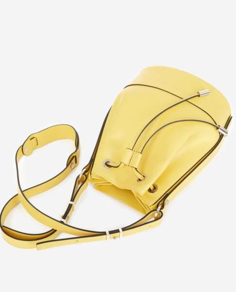Tina Bag en cuir jaune éclat, à partir de 235 €, Tina For Vincent pour The Kooples