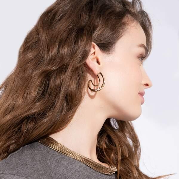 Boucles d'oreilles dorées, 9,90€, Green & Good, Balaboosté