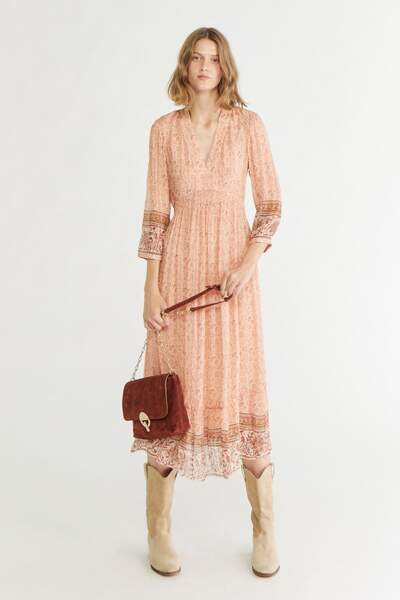 """Robe """"Magnolia"""" en soie - Vanessa Bruno, 250€"""
