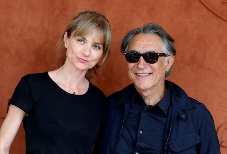 Richard Berry et sa femme Pascale Louange au village de Roland Garros à Paris, le 4 juin 2019