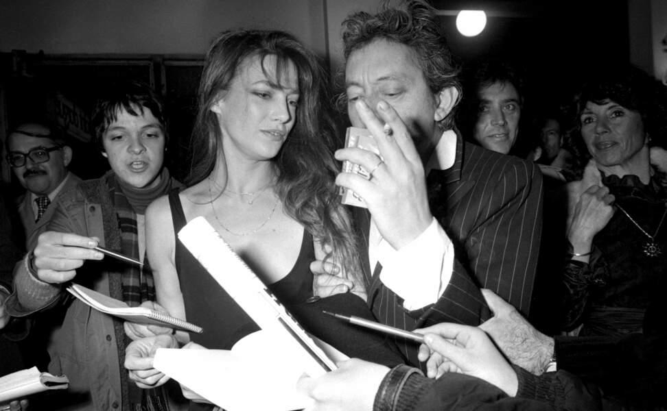 Jane Birkin et Serge Gainsbourg à la cérémonie des César en 1980.