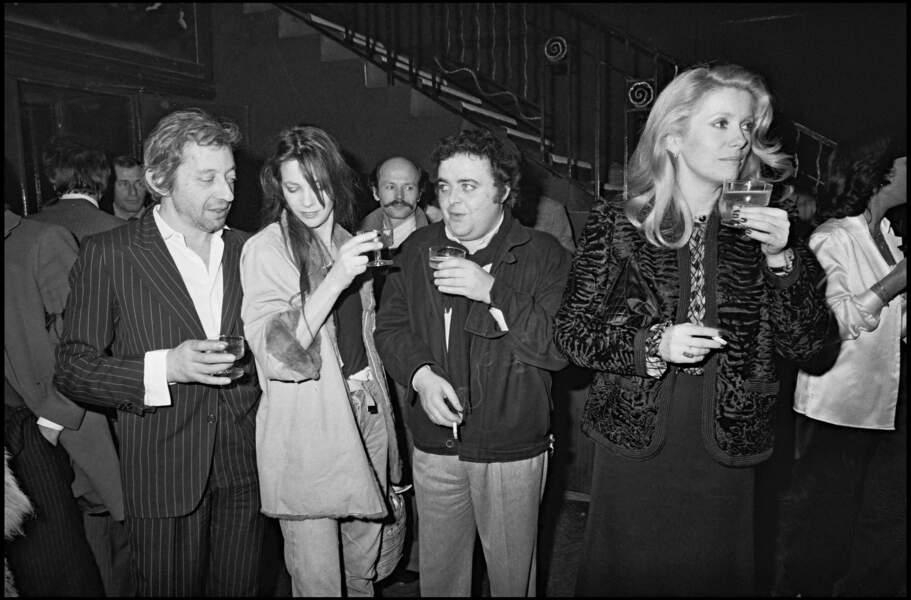 Jane Birkin et Serge Gainsbourg, Jacques Villeret et Catherine Deneuve en 1980.