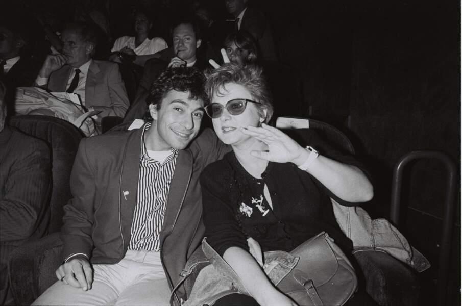 Josiane Balasko et son ex-mari, le sculpteur Philippe Berry, à Paris en 1986