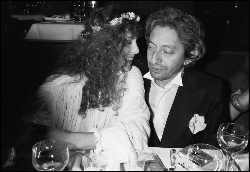 Serge Gainsbourg et Jane Birkin chez Raspoutine en 1978.