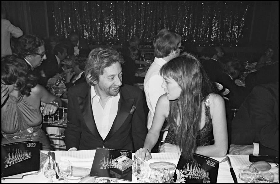 Serge Gainsbourg et Jane Birkin au Crazy Horse en 1976.